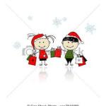 children christmas shopping